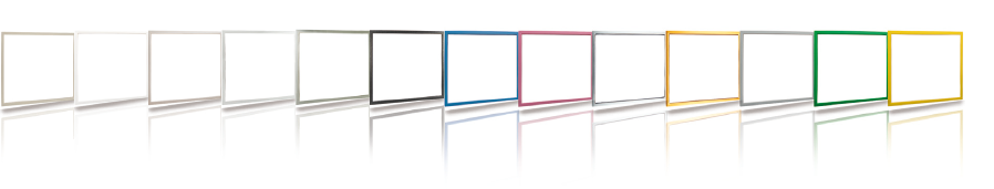 Dostępne kolory ramek dekoracyjnych wewnętrznych